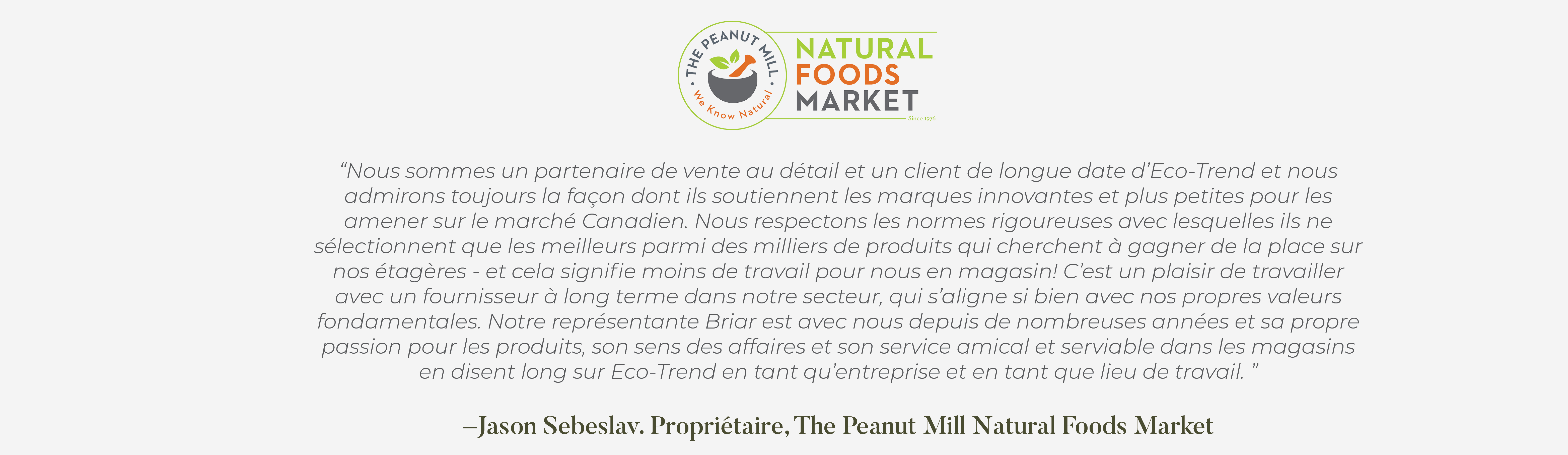 Jason Sebeslav of Natural Foods Market testimonial